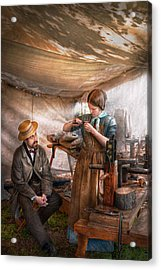 Steampunk - The Apprentice Acrylic Print by Mike Savad