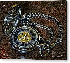 Steampunk - The Pocketwatch Acrylic Print by Paul Ward