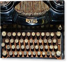 Steampunk - Typewriter -the Royal Acrylic Print by Paul Ward