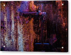 Steel Door Number Two Acrylic Print by Bob Orsillo