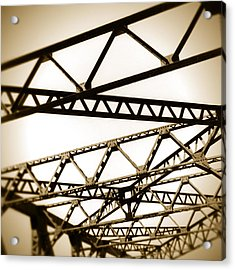 Steel Lines Acrylic Print by Timothy Bischoff