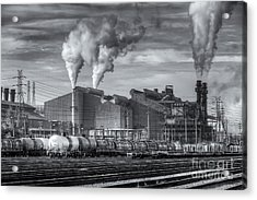 Steel Mill And Freight Yard II Acrylic Print by Clarence Holmes