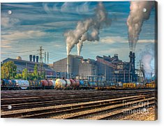 Steel Mill And Freight Yard IIi Acrylic Print by Clarence Holmes