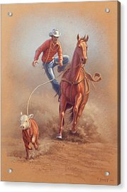 Steppin' Down At Red Lodge Acrylic Print by Paul Krapf