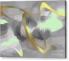Sterling Desire Abstract Acrylic Print by Alexander Butler