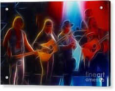 Steve Miller Band Fractal Acrylic Print by Gary Gingrich Galleries