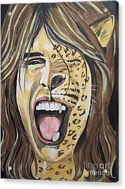 Steven Tyler As A Wild Cat Acrylic Print by Jeepee Aero
