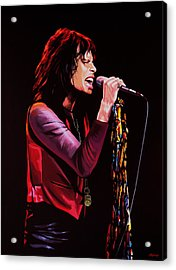 Steven Tyler In Aerosmith Acrylic Print by Paul Meijering