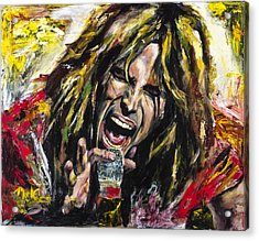 Steven Tyler Acrylic Print by Mark Courage