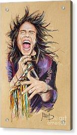 Steven Tyler Acrylic Print by Melanie D