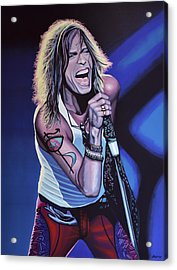 Steven Tyler Of Aerosmith Acrylic Print by Paul Meijering