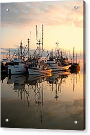 Steveston Harbour Acrylic Print by Shirley Sirois