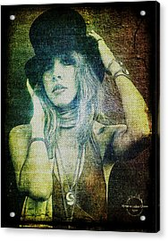 Stevie Nicks - Bohemian Acrylic Print by Absinthe Art By Michelle LeAnn Scott