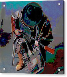 Stevie Ray Vaughan Srv Acrylic Print by  Fli Art