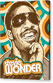 Stevie Wonder Pop Art Acrylic Print by Jim Zahniser