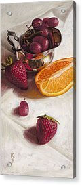 Still Life Reflections Acrylic Print by Ron Crabb