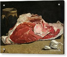Still Life The Joint Of Meat Acrylic Print by Claude Monet