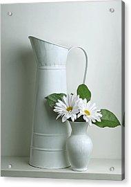 Still Life With Daisy Flowers Acrylic Print by Krasimir Tolev