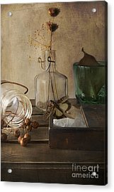 Still Life With Grasshopper Acrylic Print by Elena Nosyreva