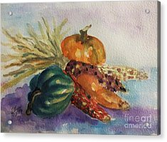 Still Life With Indian Corn Acrylic Print by Ellen Levinson
