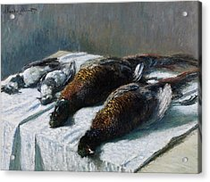 Still Life With Pheasants And Plovers Acrylic Print by Claude Monet