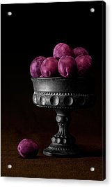 Still Life With Plums Acrylic Print by Tom Mc Nemar