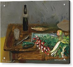 Still Life With Radishes Acrylic Print by Celestial Images