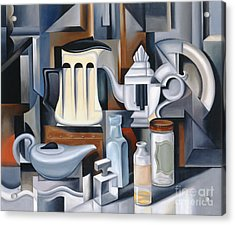 Still Life With Teapots Acrylic Print by Catherine Abel