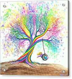 Still More Rainbow Tree Dreams Acrylic Print by Nick Gustafson