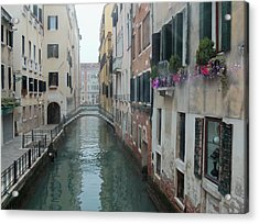 Still Waters In Venice Italy Acrylic Print by Jan Moore