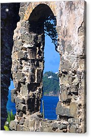 Stlucia - Ruins Acrylic Print by Gregory Dyer