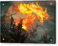 Stoke The Flames Acrylic Print by Ryan Barger