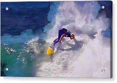 Stoked Surfer Acrylic Print by Dan Sproul