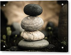 Stone Cairns I Acrylic Print by Marco Oliveira