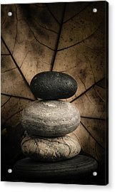 Stone Cairns II Acrylic Print by Marco Oliveira