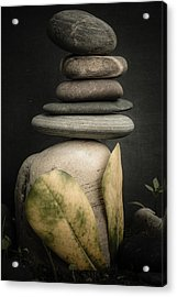 Stone Cairns V Acrylic Print by Marco Oliveira
