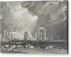 Stone Henge Acrylic Print by Joseph Mallord William Turner