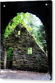 Stone House Doorway Acrylic Print by Lizbeth Bostrom