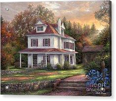 Stone Terrace Farm Acrylic Print by Chuck Pinson