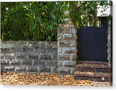 Stone Wall And Gate Acrylic Print by Rich Franco