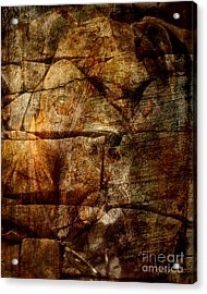 Stone Wall Acrylic Print by Judy Wood