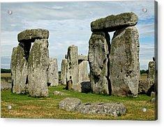 Stonehenge Acrylic Print by Derek Sherwin