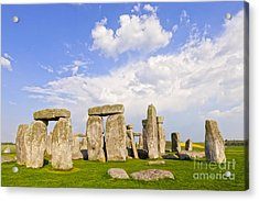 Stonehenge Stone Circle Wiltshire England Acrylic Print by Colin and Linda McKie