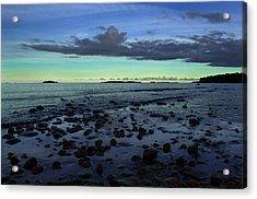 Stones In Water Acrylic Print by Oscar Karlsson