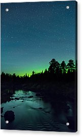 Stony River Stars Acrylic Print by Adam Pender