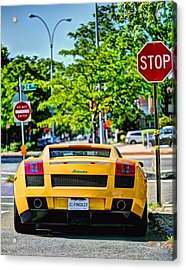 Stop Signs Are Wrong Acrylic Print by JC Findley