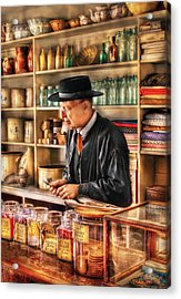 Store - In The General Store Acrylic Print by Mike Savad