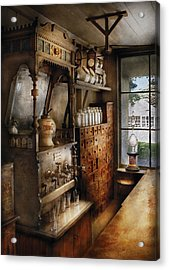 Store - Turn Of The Century Soda Fountain Acrylic Print by Mike Savad