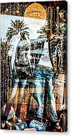 Store Window Display Acrylic Print by Rudy Umans