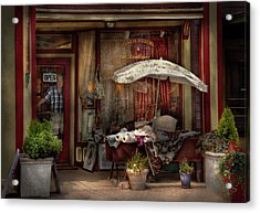 Storefront - Frenchtown Nj - The Boutique Acrylic Print by Mike Savad